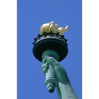 RWatts Nahaufnahme der Fackel der Statue Of Liberty New York Ny PosterPrint