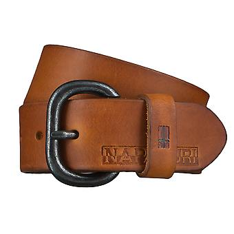 Napapijri belts men's belts leather jeans belt Cognac 4562