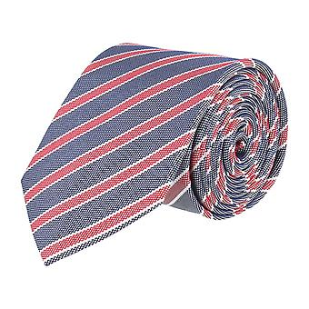 Pelo classic silk tie tie silk blue - pink striped