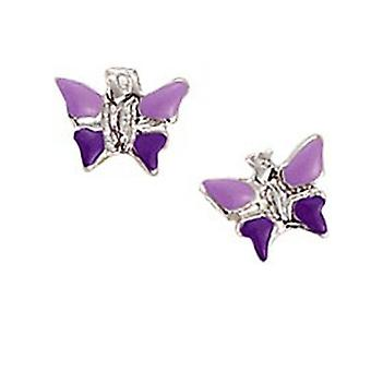 Scout Children earrings pierced earrings silver butterfly purple girl 262129100