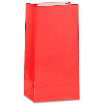 Paper Party bags - Red - pack of 12