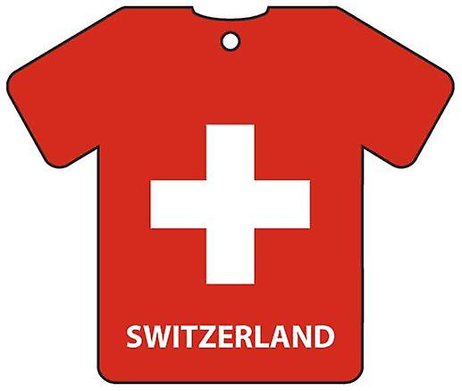 Personalised Switzerland Flag Jersey Car Air Freshener