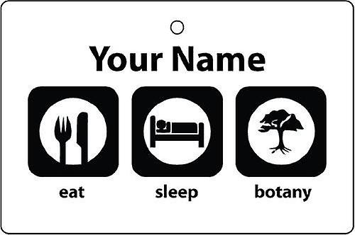 Personalised Eat Sleep Botany Car Air Freshener