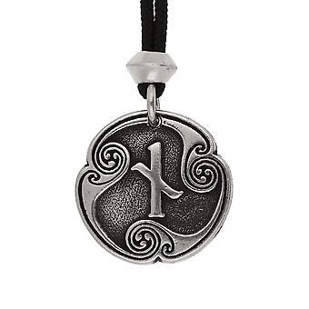 Håndlavede Nordisk Viking Naudiz Rune af begrænsning / tålmodighed 10th Runic brev tin vedhæng