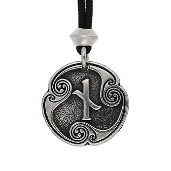 La main Viking nordique Naudiz Rune de contrainte / Patience 10ème lettre runique pendentif en étain