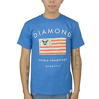 Diamond Supply Co World Champions 1998 USA Flag Eagle Logo Men's Blue T-shirt