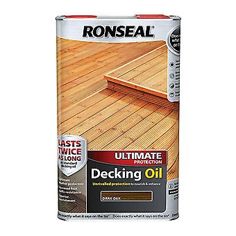 Ronseal Ultimate Protection Decking Oil 5 Litre - Dark Oak