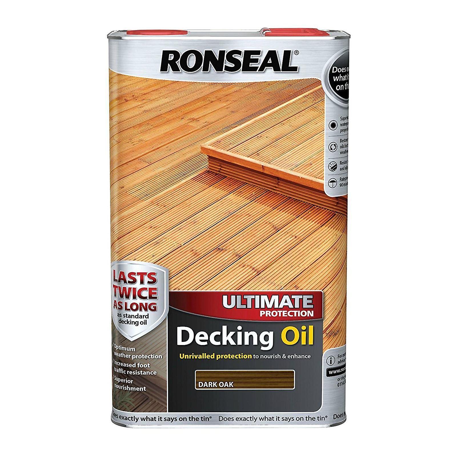 Ronseal Ultimate Protection Decking Oil 5 Litre - Dark Oak