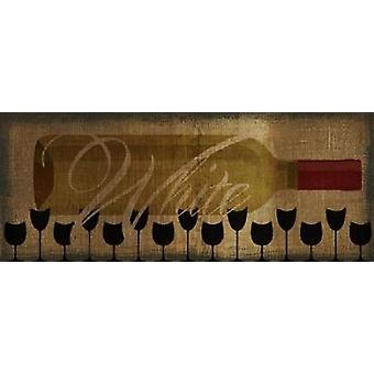 БЕЛЫЕ вина горизонтальных Плакат Печать Тейлор Грин