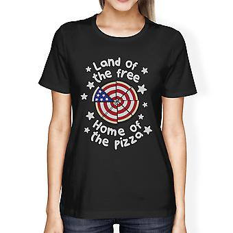 Land Of The Free Funny Independence Day T-Shirt For Pizza Lovers