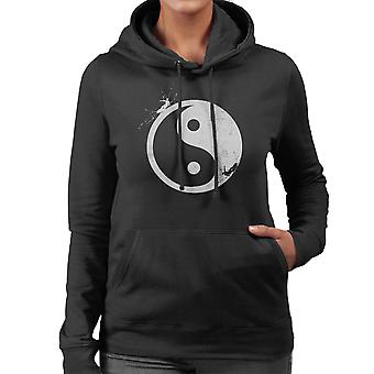 Yin Yang Surfer Outside Women's Hooded Sweatshirt