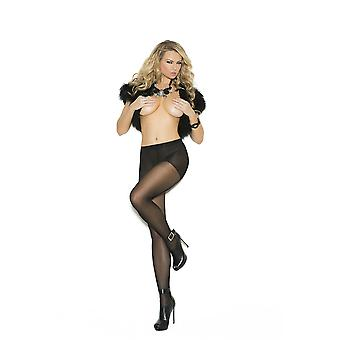 Elegant Moments  EM-1134 Sheer pantyhose with woven lace back seam