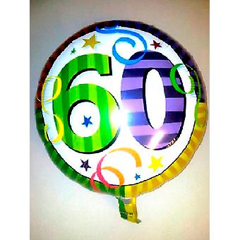 Foil Balloon 60th BIRTHDAY'