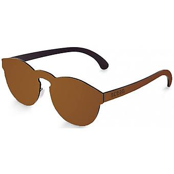 Ocean Long Beach Flat Lense Sunglasses - Brown