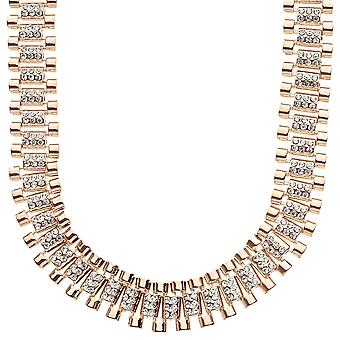 Iced out hip hop bling necklace - CZ LINK 15mm rose gold