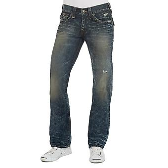 True Religion Ricky With Flap CJCD Gothic Rains Jeans Medium Blue Straight Leg