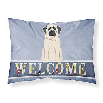 Mastiff White Welcome Fabric Standard Pillowcase