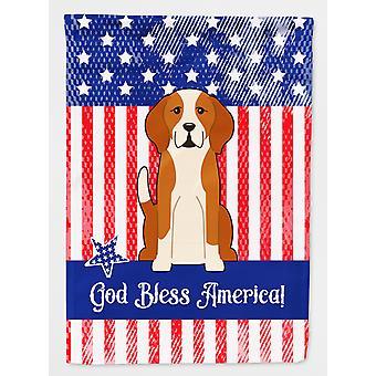 Patriotic USA English Foxhound Flag Canvas House Size
