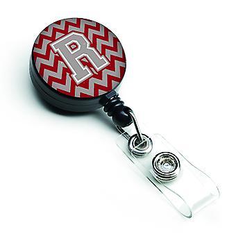 Bogstavet R Chevron Crimson og grå løftbare Badge hjuls