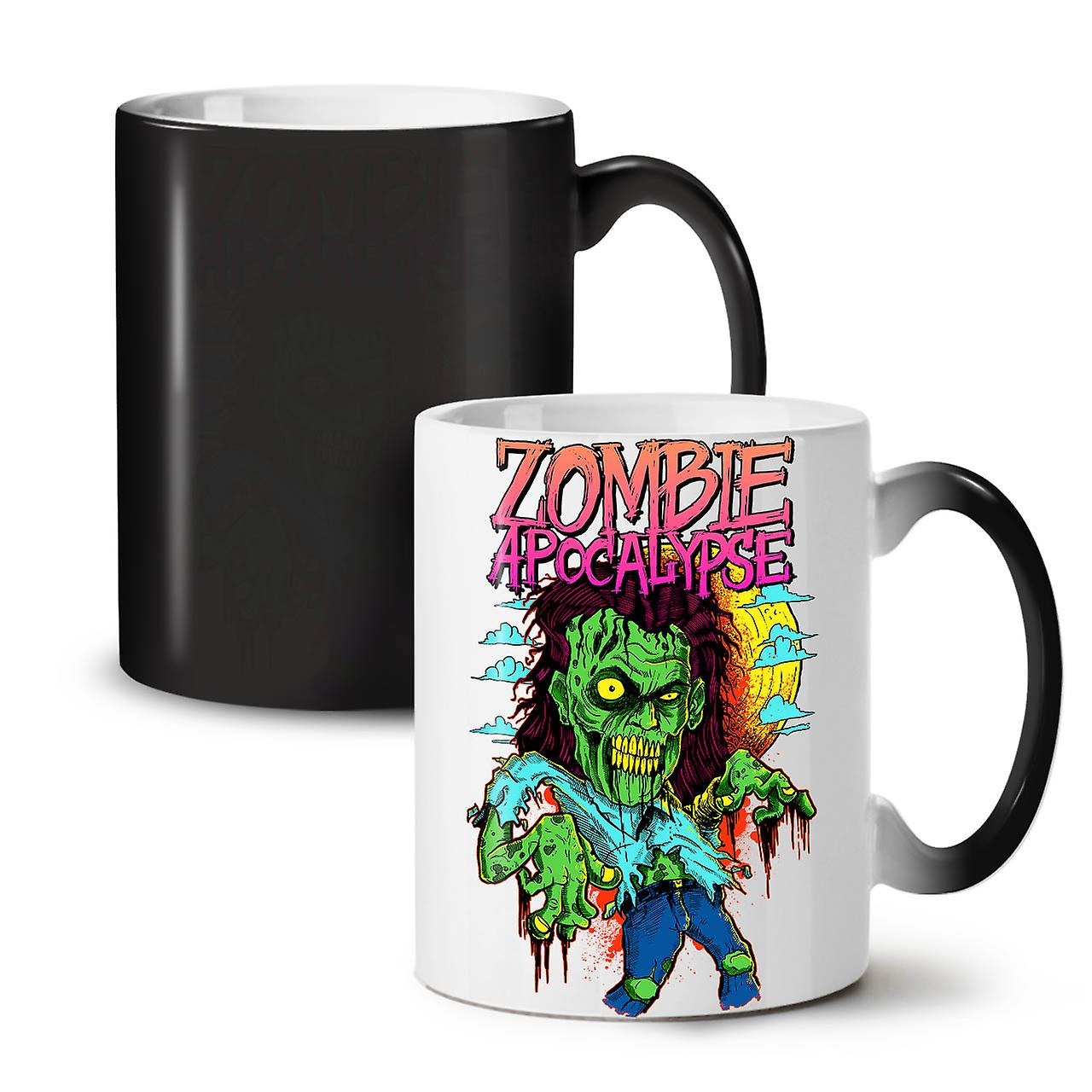 Céramique 11 OzWellcoda Nouveau Tasse Zombie Noir Apocalypse Horreur Changeant Café Thé Coloris n0OkP8w