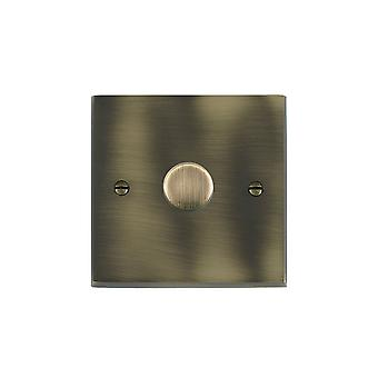 Hamilton Litestat Cheriton Victorian Antique Brass 1g 300VA 2 Way Dimmer AB