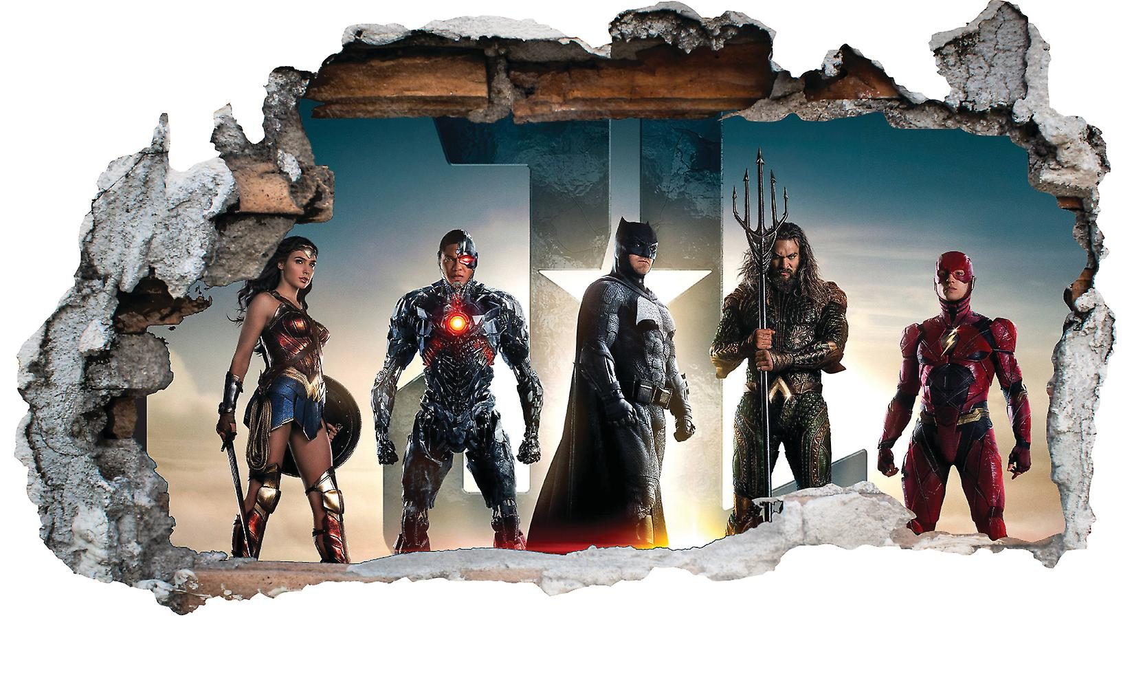 GNG DC Characters Vinyl Smashed Wall Art Decal Stickers Bedroom Boys Girls 3D