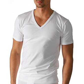 Mey 48707-101 Men's Organic White Solid Colour Short Sleeve Top