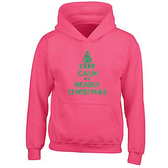 Keep Calm It's Nearly Christmas Xmas Kids Hoodie 10 Colours (S-XL) by swagwear