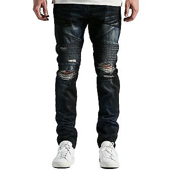 Embellish Bad Biker Denim Jeans Deep Indigo