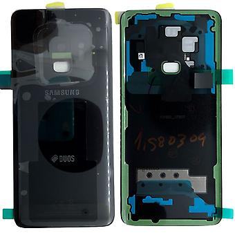 Samsung GH82-15875A battery cover cover for Galaxy S9 duo + adhesive pad black midnight black new