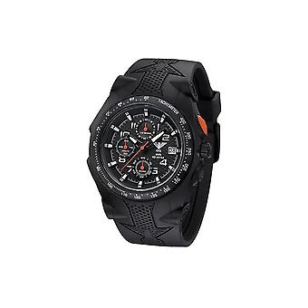 KHS watches mens watch Sentinel AC black rubber black chronograph KHS. SEACB. S