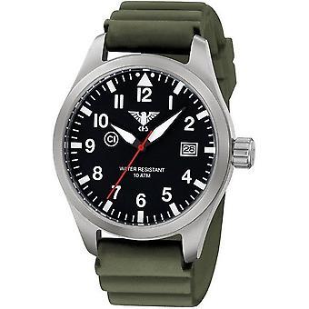 KHS horloges mens watch Airleader staal KHS. VOOR HET EERST UITGEZONDEN. DOEN