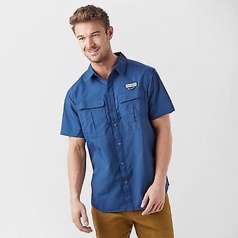 New Columbia mannen Cascade Explorer korte mouw shirt Navy