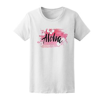 Hand Lettering Aloha  Tee Women's -Image by Shutterstock