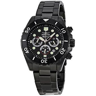 Invicta Men's Signature 7369 Black Dial Black Stainless Steel Chronograph Watch