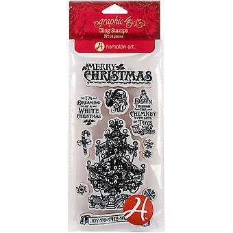 Graphic 45 St Nicholas Cling Stamps-#2