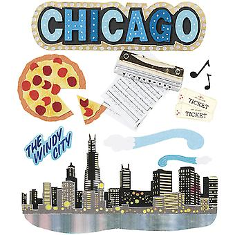Jolee's Boutique Dimensional Stickers-Chicago