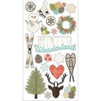 Winter Wonderland Chipboard Stickers 6