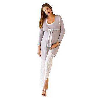 Belabumbum Starlit 3-pc. Maternity & Nursing Cami PJ & Robe Set