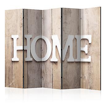 Kamer Divider-kamer Divider Home op houten planken