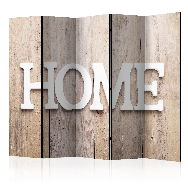 Paravent 5 volets - Room divider – Home on wooden boards