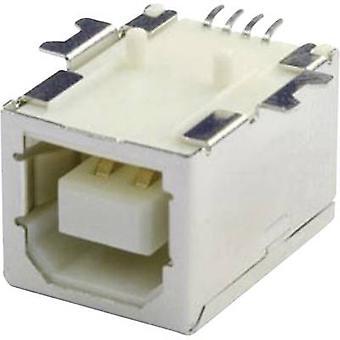 Mounted socket USB-B SMD 90 G Socket, horizontal mount UBU1BSMD 1 Port econ connect Content: 1 pc(s)