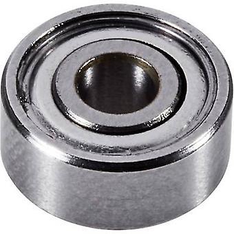 Reely Custom ball bearing Chrome steel Inside diameter: 3.17 mm Outside diameter: 9.52 mm Rotational speed (max.): 67000 rpm