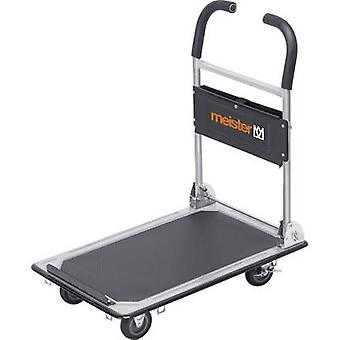 Meister Werkzeuge 8985620 Flatbed trolley folding, + compartment Steel Load capacity (max.): 150 kg