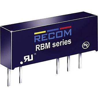 RECOM RBM-0512D DC/DC converter (print) 5 Vdc 12 Vdc, -12 Vdc 41 mA 1 W No. of outputs: 2 x