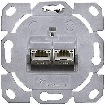 Tomada de rede Flush mount inserir CAT 6A 2 portas Telegärtner