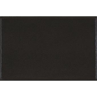 wash + dry mat plain Raven black Black