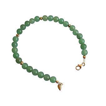 Grön Aventurine ädelsten armband grön Aventurine ädelsten armband guld pläterad