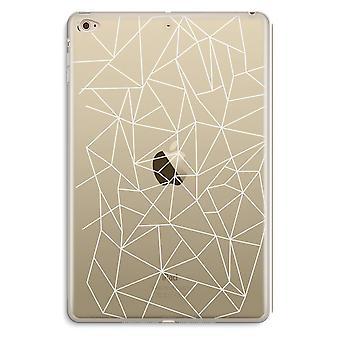 iPad Mini 4 Transparent Case (Soft) - Geometric lines white