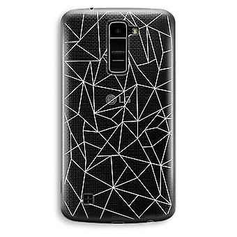 LG K10 (2016) gennemsigtig sag (Soft) - geometriske linjer hvid